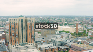Two Aerial Shots Of Buildings In Baltimore, Maryland, USA