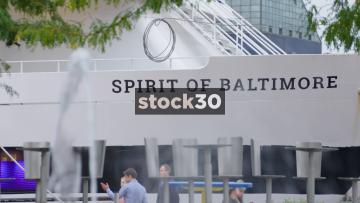 Spirit Of Baltimore Cruise Boat At Inner Harbor, Baltimore, Maryland, USA