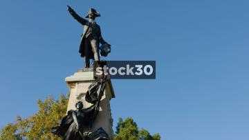 Statue Of Major General Comte Jean De Rochambeau In Lafayette Square, Washington DC, USA