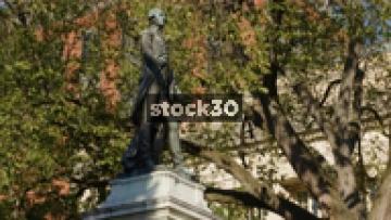 Statue Of Major General Marquis Gilbert De Lafayette In Lafayette Square, Washington DC