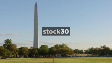 Wide Shot Of The Washington Monument In Washington DC, USA