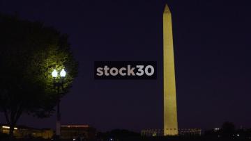 Night Shot Of The Washington Monument In Washington DC, USA