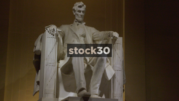 Abraham Lincoln Statue At The Lincoln Memorial In Washington DC, USA