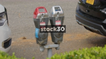 Parking Meters And Pay By Phone Sign In Washington DC, USA