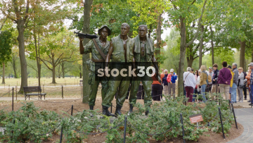 Vietnam Veterans Memorial In Washington DC, Zoom In, USA