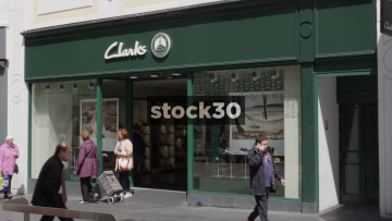 Clarks Shoe Shop On Church Street In Liverpool, UK