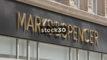 Marks And Spencer On Church Street In Liverpool, UK