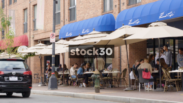 People Dining At The Peacock Cafe In Georgetown, Washington DC, USA
