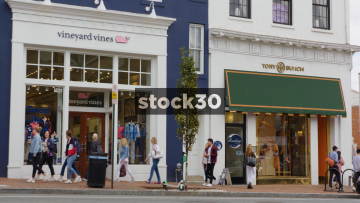 Vineyard Vines And Tory Burch Stores In Georgetown, Washington DC, USA