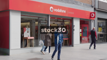 Vodafone Store On Church Street In Liverpool, UK