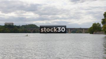 Francis Scott Key Memorial Bridge Over The Potomac River In Washington DC, USA