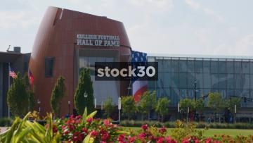 College Football Hall Of Fame Building In Atlanta, Georgia, USA