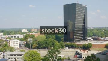 Interstate 75 & 85 And Georgia Power Building In Atlanta, Georgia, USA