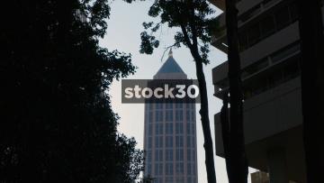 Zoom In To One Atlantic Center Building In Atlanta, Georgia, USA