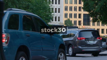 Traffic On Peachtree Street In Atlanta, Georgia, USA