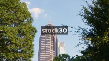 Zoom In To The Atlantic Midtown Building In Atlanta, Georgia, USA