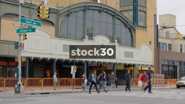 Stilwell Avenue Station In Coney Island, Brooklyn, New York, USA