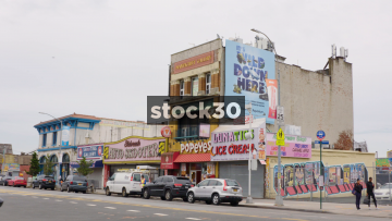 Zoom In To Old Building On Stilwell Avenue In Coney Island, Brooklyn, New York, USA