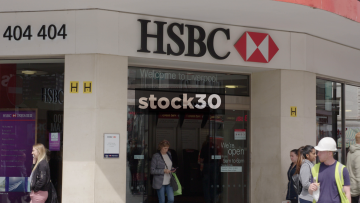 HSBC On Church Street In Liverpool, Slow Zoom Out, UK