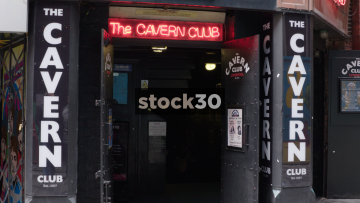 Liverpool Cavern Club Main Entrance And Door Sign, UK