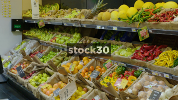 Fruit And Veg Display In Greengrocers