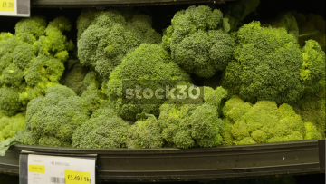 Several Shots Of Vegetables In Greengrocers Store