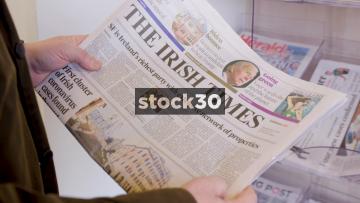The Irish Times And Irish Daily Mail Newspapers During The Coronavirus Outbreak Of 2020