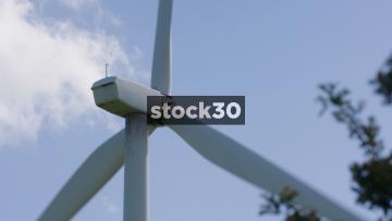 Extreme Close Up Shot Of Wind Turbine, UK