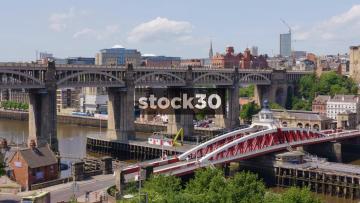 High Level Bridge Over The River Tyne In Newcastle Upon Tyne, UK