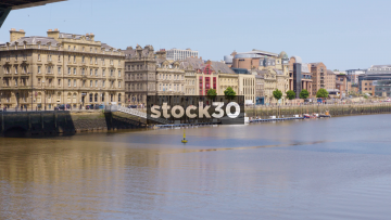 The River Tyne And Riverside Area In Newcastle Upon Tyne, UK