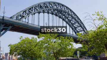 The Tyne Bridge In Newcastle Upon Tyne, Wide And Close Up Shots, UK
