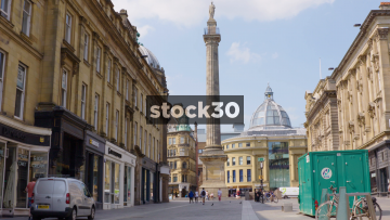Grey's Monument In Newcastle Upon Tyne, UK