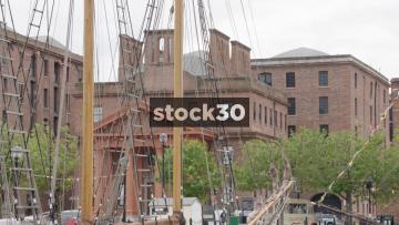 Kathleen And May Sailing Ship Moored At Albert Dock In Liverpool, UK