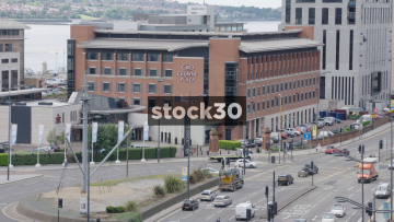 Wide Shots Of Crowne Plaza Hotel In Liverpool, UK