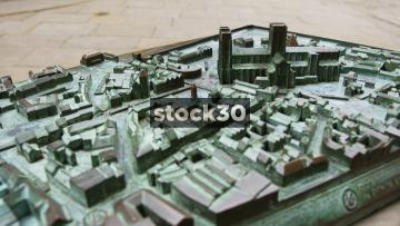 York Millennium Project Bronze Model Of York City Centre, 3 Close Up Shots, UK