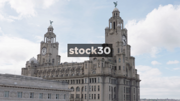 Top Of The Liver Building In Liverpool, UK