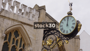 Ornate Gold 18th Century Clock In York, UK