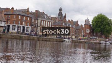 Riverside Area By the River Ouse In York, UK