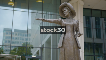 Emmeline Pankhurst Suffragette Statue In Manchester, UK