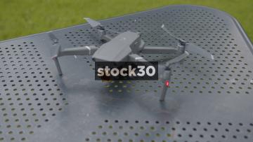 Slow Motion Shot Of DJI Mavic 2 Pro Drone Taking Off