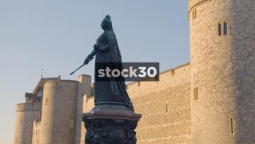 Queen Victoria Statue Outside Windsor Castle, UK