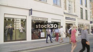 Charles Tyrwhitt On Jermyn Street In London, UK