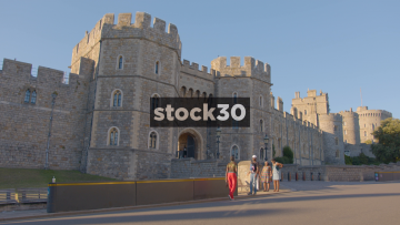 Windsor Castle - Front Entrance With Tourists Taking Photos, UK