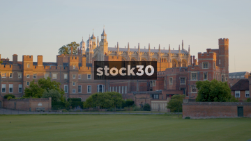Eton College In Windsor, Slow Zoom Out, UK