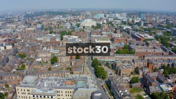 Drone Shot Approaching Liverpool Metropolitan Cathedral, UK