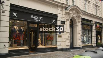 Hackett, Pink And Charles Tyrwhitt On Jermyn Street In London, UK