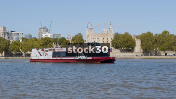 City Cruises Boat On The River Thames In London By Tower Of London, UK