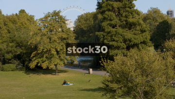 St James's Park In London, Slow Zoom Out, UK