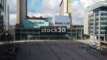 Media City Studios, The Lowry, BBC, 3 Aerial Shots, Salford Quays, UK