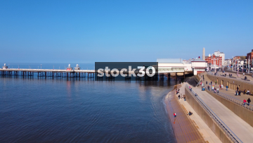 Drone Shot Of North Pier In Blackpool, UK